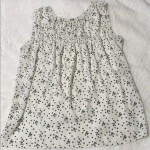 LOFT- White & Black,Cute Sleeveless Floral Top